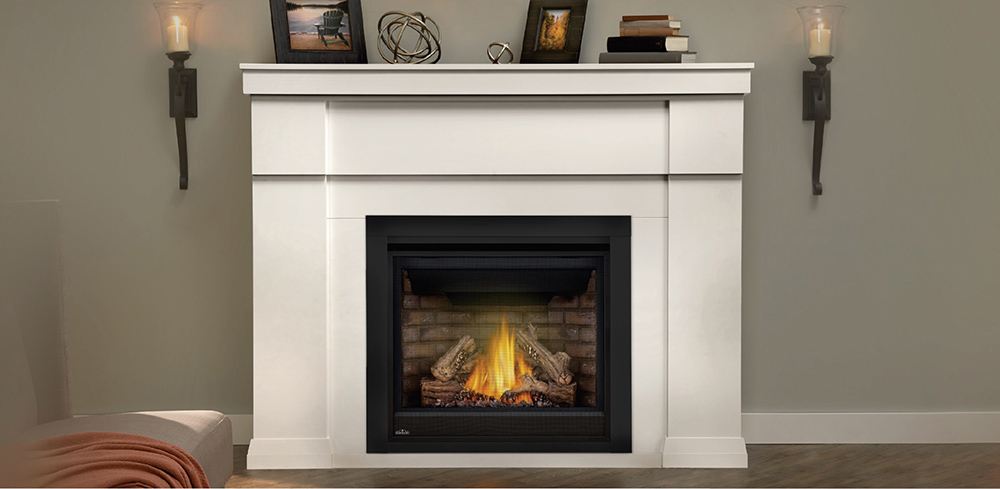 gas fireplace in modern room